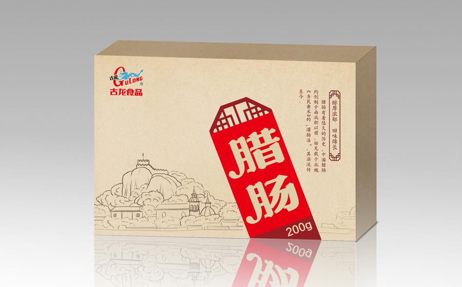 古龙腊肠纸盒包装设计