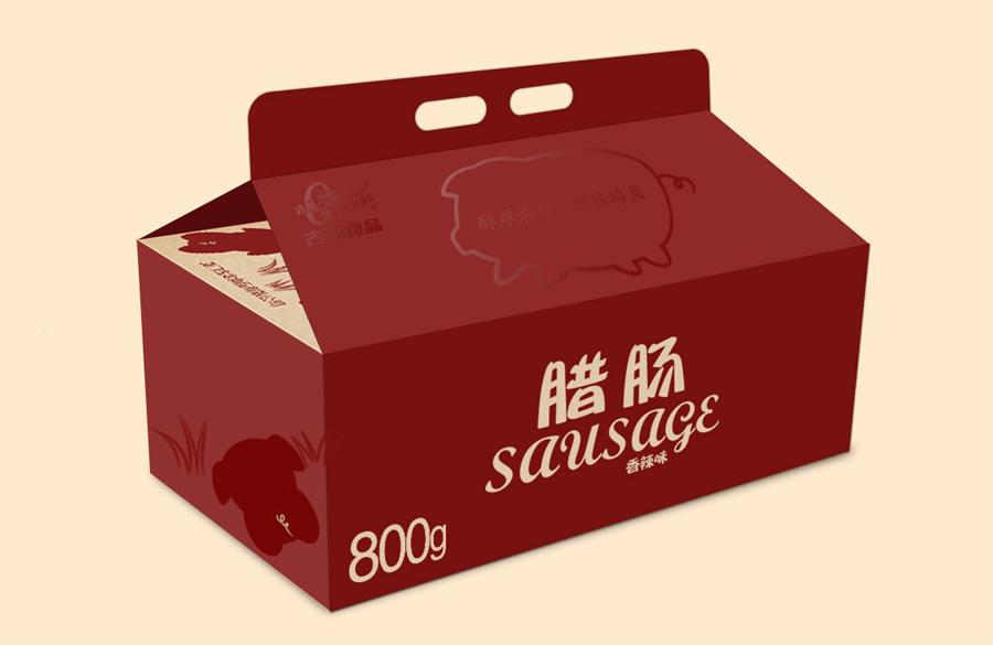 古龙腊肠礼盒包装设计
