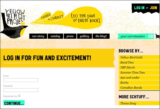 网站登录页面扁平化设计欣赏